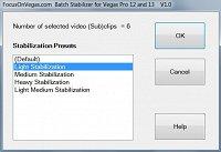 Vegas Batch Stabilize script